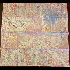 New Hermès Animapolis silk scarf